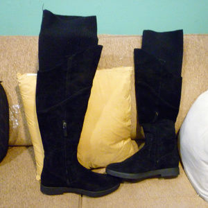 Nine West NEW black over knee boots 11 M w/box